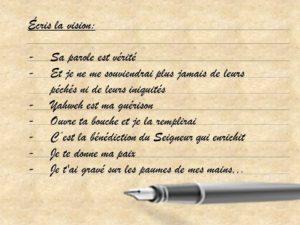 Ecris La Vision